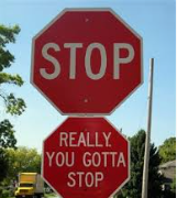 stop sign, really !