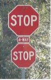double stop sign