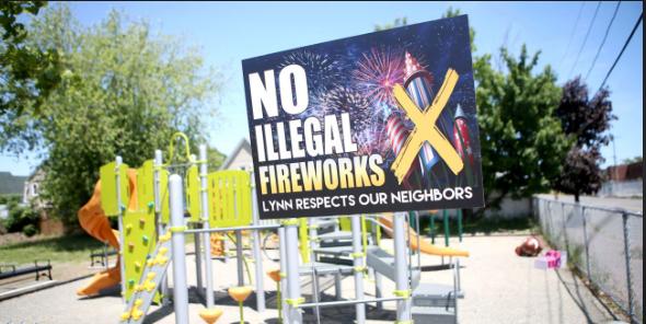 No Fireworks sign