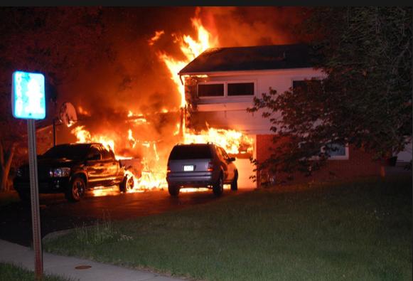 fireworks house fire